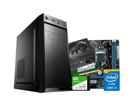 PC Lider Home Office - Core I3, 8GB, SSD 240, 200W, GABINETE ATX