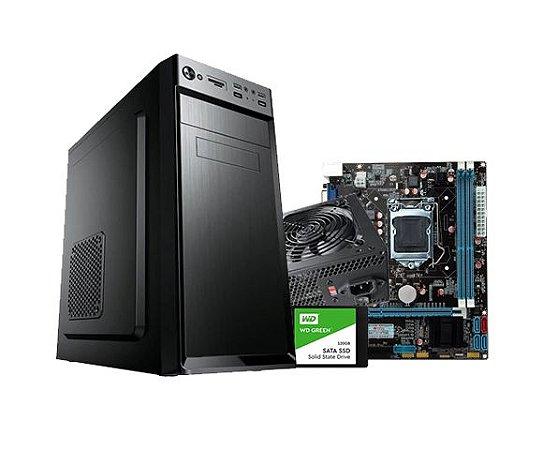 KIT Core i5, H61M Intel, SSD 240GB, 500W, GABINETE ATX, Pasta Silver, SEM MEMORIAS