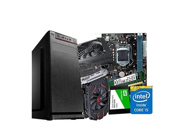 PC Gamer Lider Médio - Core i5, 8GB, SSD 240GB , RX 550 4GB, 500W, GABINETE ATX