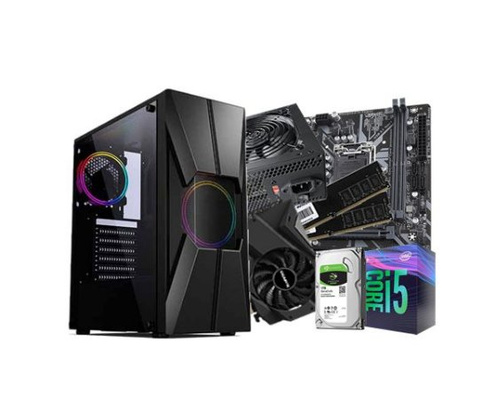 PC Gamer Líder Médio, Core i5 9Gº, 16GB, Hd 1TB, 500w 80 PLUS , GTX 1650 4GB,GABINETE GAMER