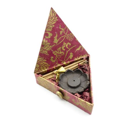 Caixa Tibetana com Incenso e Porta Incenso