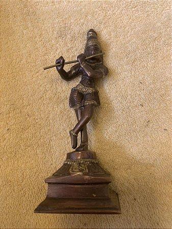 Krishna em cobre e latão