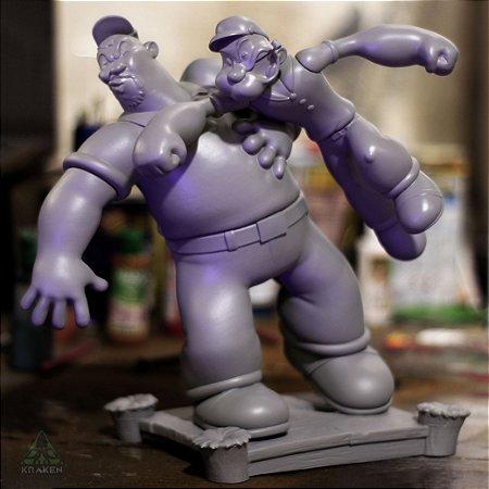 Diorama Popeye vs Brutus #1° Lote - Frete Grátis