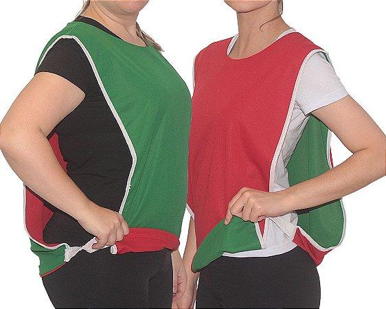 Colete Clássico Dupla Face - Verde   Vermelho (M) - Rei Do Colete 270ba117f623d