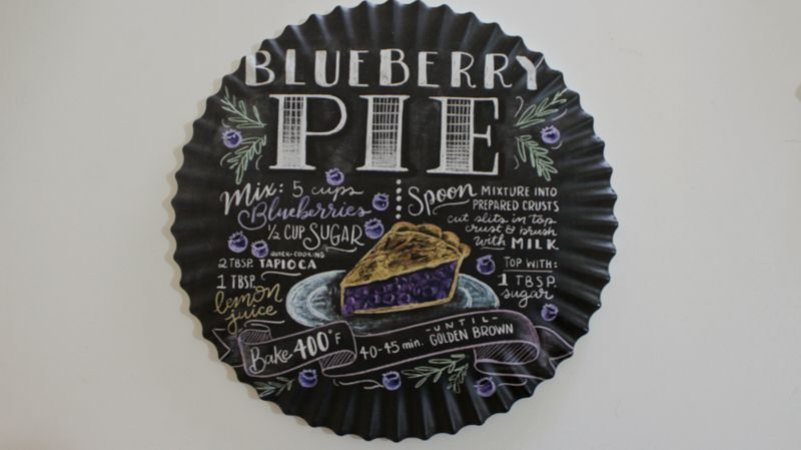 Suporte de porcelana Bluberry