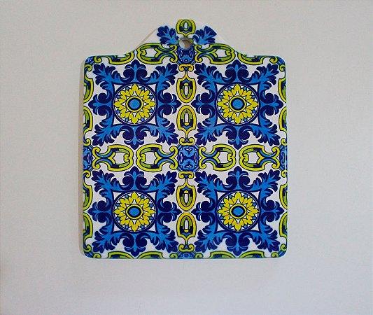 suporte de porcelana azulejo português