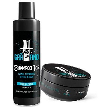 Kit Grã-Fino Shampoo + Pomada Brilho