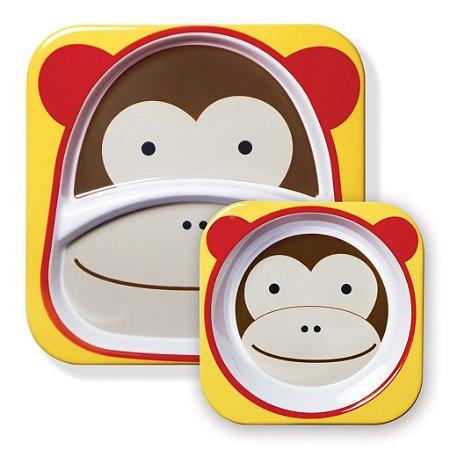 Conjunto de Pratos Skip Hop Zoo - Macaco