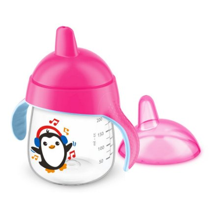 Copo Pinguim Philips Avent 260ml Antivazamento - Rosa