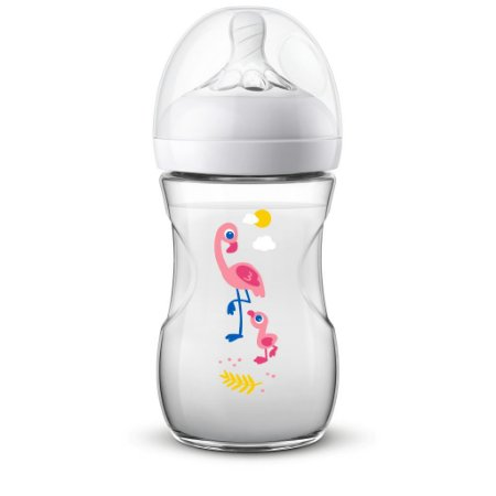 Mamadeira Avent Philips Pétala 260ml Anticólica Flamingo