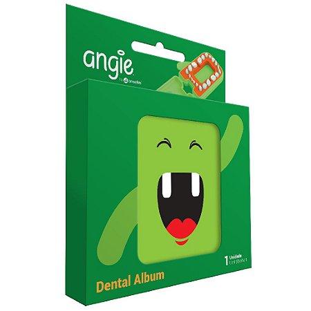 Porta dente de Leite / Dental Album Divertido Angie - Verde