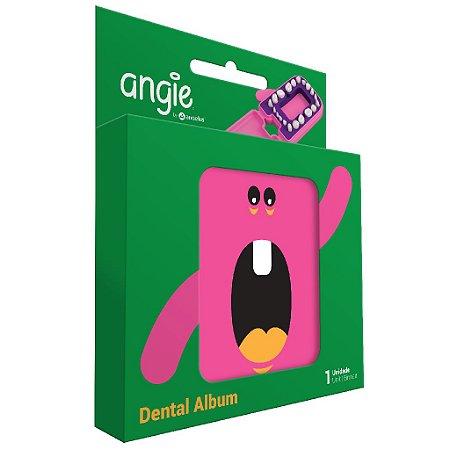 Porta dente de Leite / Dental Album Divertido Angie - Rosa