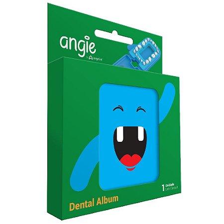 Porta dente de Leite / Dental Album Divertido Angie - Azul