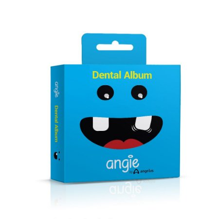 Porta dente de Leite / Dental Album Premium Angie - Azul
