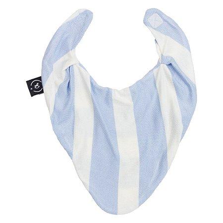 Babador Bandana para Bebês Azul e Branco Penka Bib - Encantado
