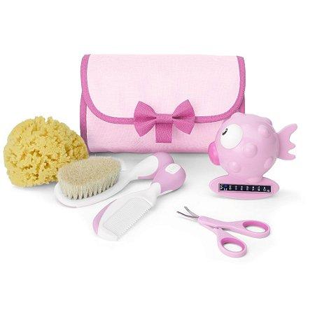 Kit de Higiene e Cuidados para Bebê Menina Completo - Chicco