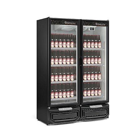 Refrigerador Vertical Para Cervejas ou Carnes  957 Litros 2 Portas Vidro  Gcbc-950PR- Gelopar