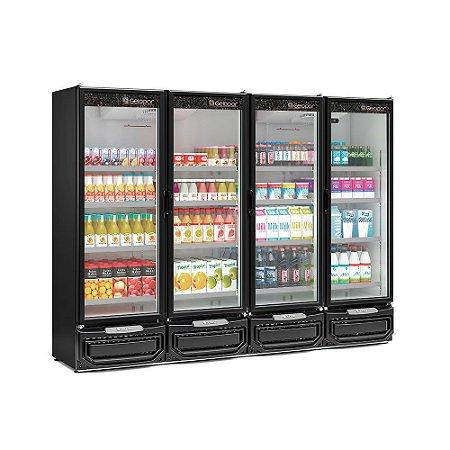Refrigerador Vertical Conveniência 4 Portas - GCVR-1950PR - GELOPAR