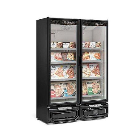 Freezer/Conservador Vertical Conveniência para Sorvetes e Congelados Frost Free 957 Litros GCVC-950PR Preto Gelopar
