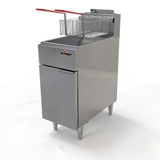 Fritadeira profissional á gás zona fria, 20 Litros, Inox FG20 GN SKYMSEN
