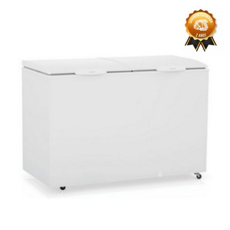 Freezer Horizontal Gelopar 2 tampas 410 litros GHBS-410 Gelopar