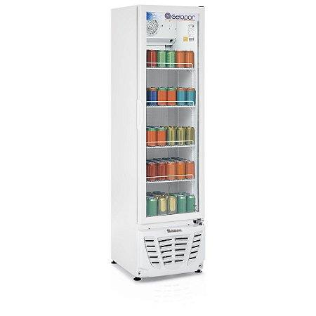 Refrigerador de bebidas vertical porta de vidro 228 litros GPTU-230 BR Gelopar