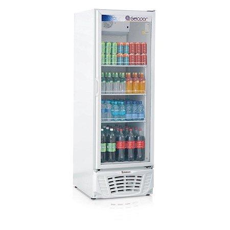 Refrigerador de bebidas vertical com serpentina aletada porta de vidro 578 litros - GPTU-570AF - Gelopar