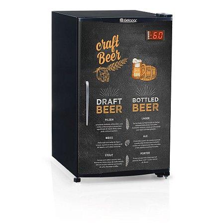 Refrigerador de bebidas cervejeira porta cega com aço pré-pintado 120 litros - GRBA-120CB - Gelopar