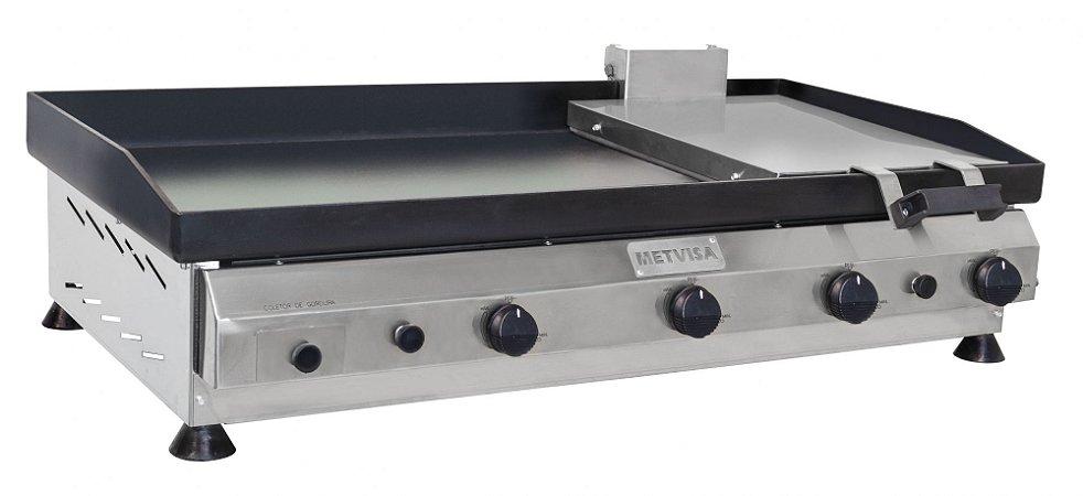 Chapa para Lanches com Prensa  em Aço Inox 1m CFGP-10 Metvisa