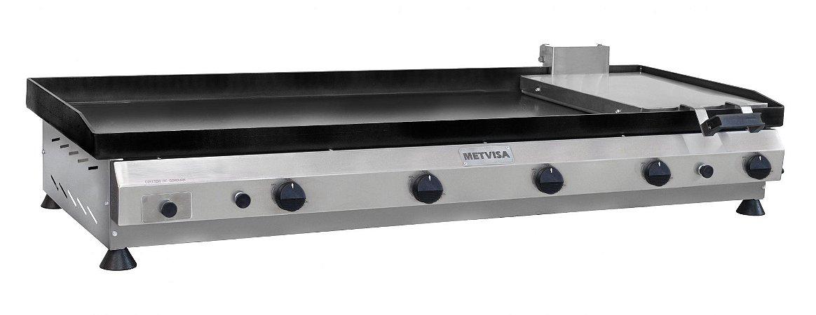 Chapa para Lanches com Prensa em Aço Inox 1.40m CFGP-14 Metvisa