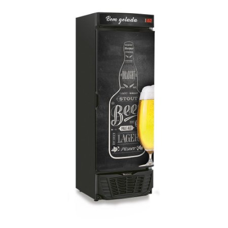 Cervejeira 570 litros - Porta com Adesivo Personalizado - Refrigerador de Bebidas  GRBA-570QC Gelopar