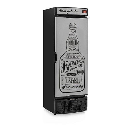 Cervejeira 450 litros - Porta Tipo Inox - Refrigerador de Bebidas GRBA-450GW Gelopar