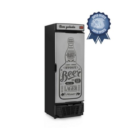 Cervejeira 450 litros Porta Sólida GRBA - 450 GW Gelopar