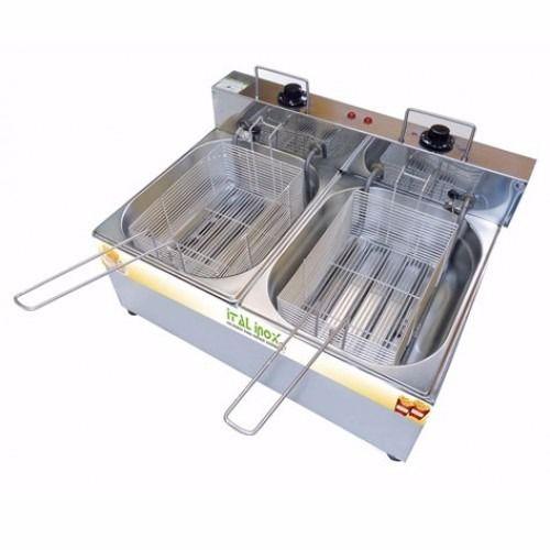 Fritadeira Elétrica Inox 2 Cubas 10 L - FEOI 10 - Ital Inox
