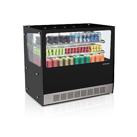 Vitrine Refrigerada Dupla Ação Linha Gourmet Elegance Bancada - GGEB-110R - Gelopar