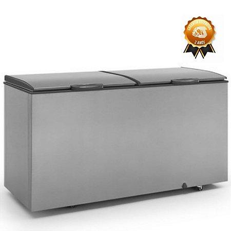 Freezer Conservador Horizontal tipo inox 2 tampas GHBS-510TI