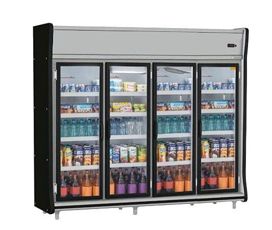 Expositor Vertical 4 portas refrigerado (Geladeira) - Gelopar - GEVP-4PPR