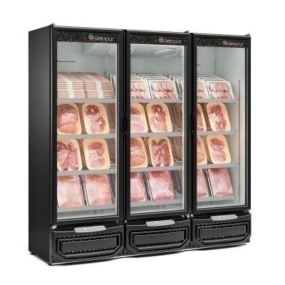 Refrigerador Expositor para Carnes 3 Portas vidro GCBC-1450 PR