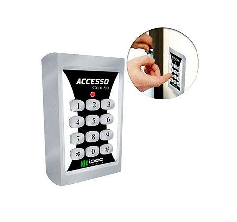 Teclado Controle De Acesso Ipec Alarme Fechadura 2 Canais