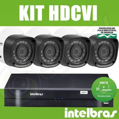 Kit Intelbras 4 Câmeras + DVR 4 Canais Multi HD