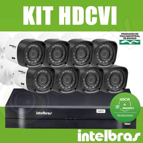 Kit Intelbras 8 Câmeras + DVR 8 Canais Multi HD