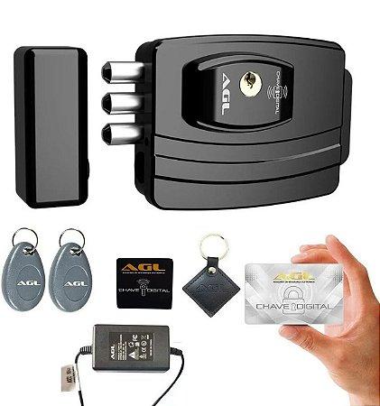 Fechadura Eletrônica Ultra Card 3 Pinos Agl