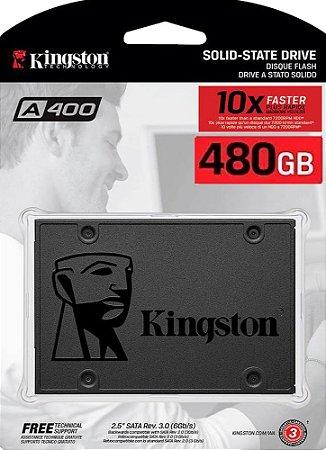 SSD KINGSTON 480GB A400 SATA III 2.5 SA400S37/480G