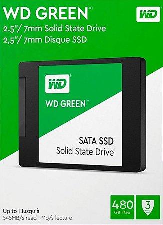 SSD WD GREEN 480GB SATA III 6GB/S 2.5´ WDS480G2G0A