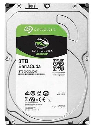 HD Seagate 3TB SATA 3,5´ BarraCuda  5400RPM 256MB Cache SATA 6Gb/s - ST3000DM007