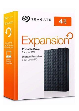 HD Seagate 4TB Externo Portátil Expansion USB 3.0  Preto - STEA4000400