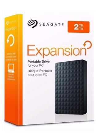 HD Seagate 2TB Externo Portátil Expansion USB 3.0  Preto - STEA2000400