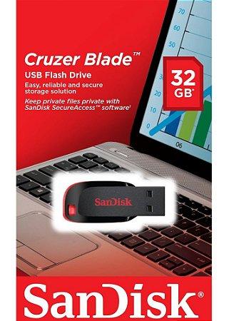 Pen Drive 32GB Cruzer Blade Sandisk USB 2.0  SDCZ50-008G-B35