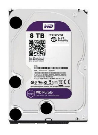 HD WD 8TB SATA 3,5´ PURPLE SURVEILLANCE INTELLIPOWER  SATA 6.0GB/S - WD80PURZ