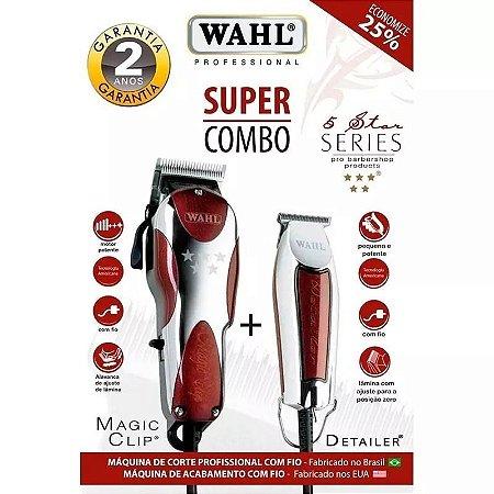 3f7892701 Maquina Wahl Super Combo Magic Clip 220v + Detailer - Kalinda sua ...